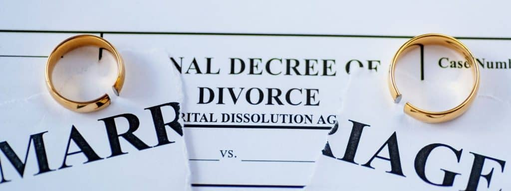 What is an ultimate purchase in a divorce?